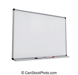 Blank Whiteboard Isolated - Blank Whiteboard isolated on...