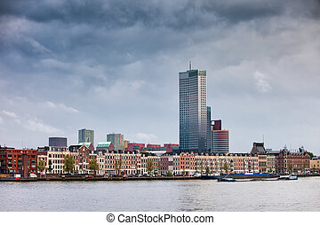 City of Rotterdam in Netherlands