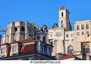 Igreja do Carmo Ruins in Lisbon - Ruins of the 14th century...