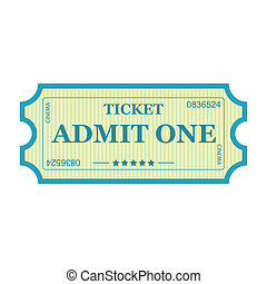 Admit One ticket.