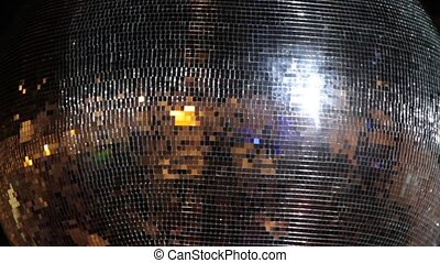Disco ball,close up