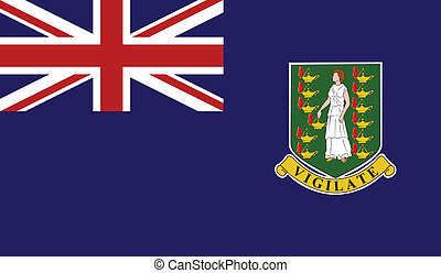 Flag of Virgin Islands UK - Virgin Islands UK flag vector...