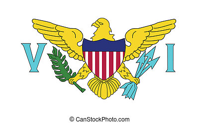 Flag of Virgin Islands US - Virgin Islands US flag vector...
