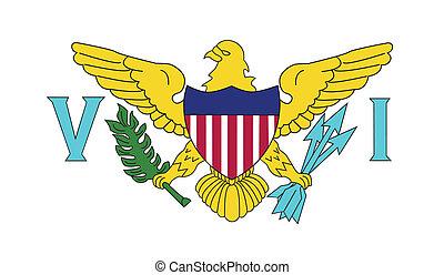 Flag of Virgin Islands US - Virgin Islands US flag vector...