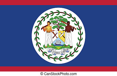 Flag of Belize - Belize flag vector illustration. created...