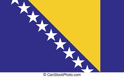 Flag of Bosnia and Herzegovina - Bosnia and Herzegovina flag...