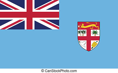 Flag of Fiji - Fiji Republic flag vector illustration....