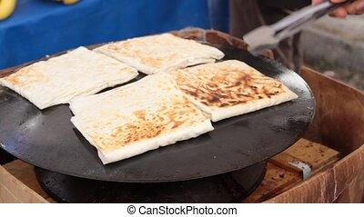 Turkish gozleme.Phyllo white cheese - Turkish gozleme....