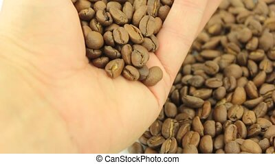 Coffee beans,close up