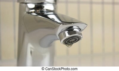 Tap water to infiltrate close up