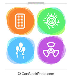 """Healthcare - 4 icons in """"Healthcare"""" from left to right: -..."""