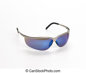 Safety Glasses - Safety glass isolated on a white background