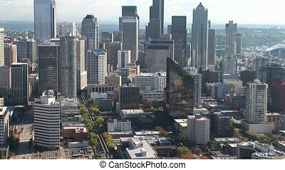 Seattle Skyline - View of downtown Seattle, from the Space...