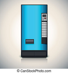 Vending machine for the sale of drinks. Vector drawing for...