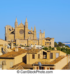 Cathedral in Palma of Majorca - Cathedral in Palma de...