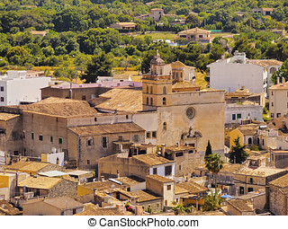Arta on Majorca - View of Arta on Mallorca, Balearic...