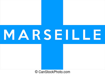 marseille flag - very big size marseille city flag...