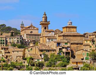 Valldemosa on Majorca - View of Valldemossa on Mallorca,...