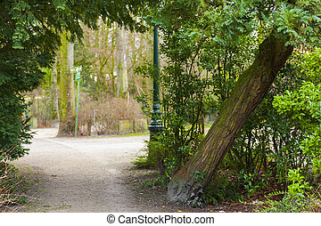 Entrance to park in Brugges Belgium - Entrance to pretty...