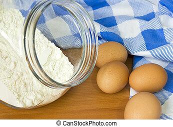 Baking ingredients - Food ingredients for preparation...