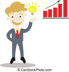 businessman with idea for business