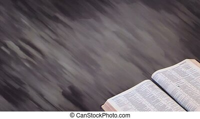 Bible with Motion Background 02 - Church service background...