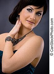 Closeup portrait of young woman - Closeup portrait of...