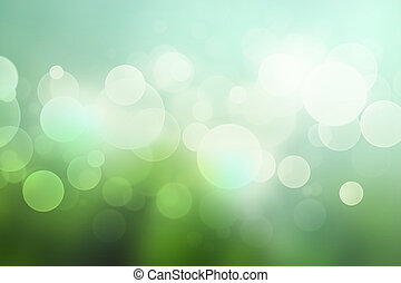 Abstract bokeh background with in soft green colors