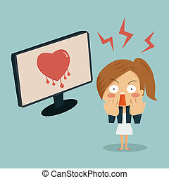 Businesswoman is shocking when she found heartbleed bug in...
