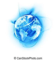 Wereld,  Abstract, het glanzen