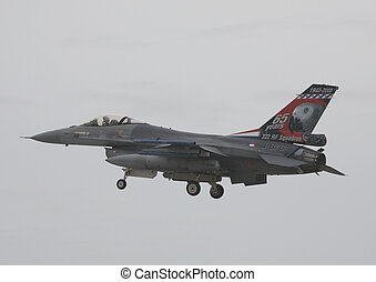 royal netherlands airforce f16 - rnlaf f16 landing raf...