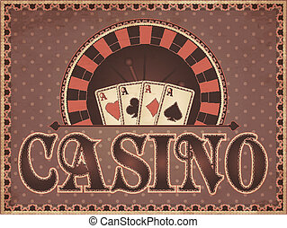 Vintage Casino invitation card
