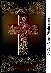Happy Easter card with cross