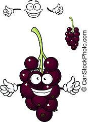 Cartoon bunch of currant berries