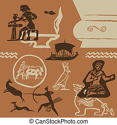 Ancient times - Elements of ancient fine arts of peoples of...