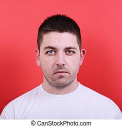 jovem, Retrato, atraente, homem