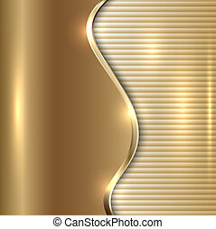 Vector abstract beige background with curve and stripes -...