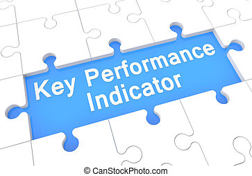 Key Performance Indicator - puzzle 3d render illustration...