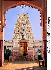 Hindu temple in Pushkar, India - Hindu temple in Pushkar,...