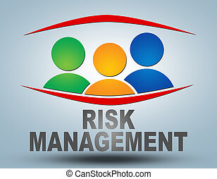 Risk Management text illustration concept on grey background...
