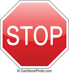 vector stop sign red