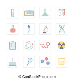 Science equipments icon set. Designed for illustration,...
