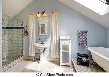bathroom with antique bath tub