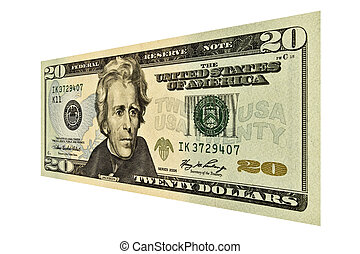 US Twenty Dollar Bill