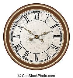 retro clock - Vector icon of retro pocket watches. gradient...
