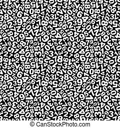 Numbers. Seamless pattern. - Numbers. Seamless abstract...