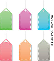 pastel label tags