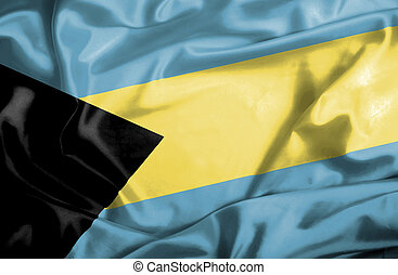 Bahamas waving flag