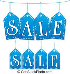 sale label tags blue