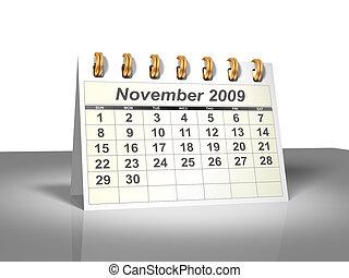 November 2009 Desktop Calendar (3D). - Desktop Calendar....